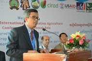 Sambath Sak of USAID Cambodia speaking at the 4th International Conservation Agriculture Conference in Southeast Asia.