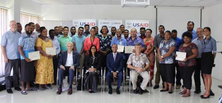 Presentation of Certificates to Participants of the USAID Ready Project Management  Course in Suva
