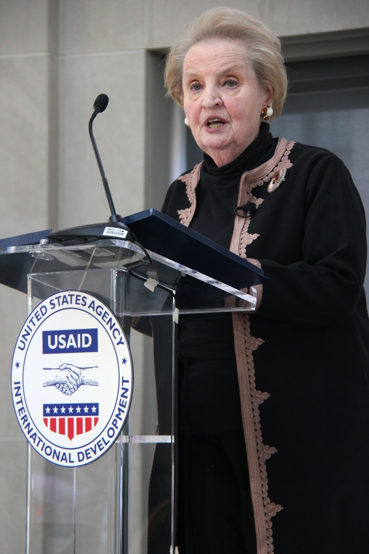 Dr. Madeleine Albright at the USAID Development Forum