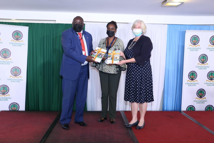 USAID Deputy Mission Director Heather Schildge participates in the event marking the official handover of the Afya Elimu Fund to the Higher Education Loans Board.
