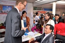 USAID Mission Director Joakim Parker joins activities during the International Day of Persons with Disabilities in Hanoi.