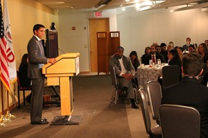 Administrator Rajiv Shah speaking at the 12th Annual USAID Iftar
