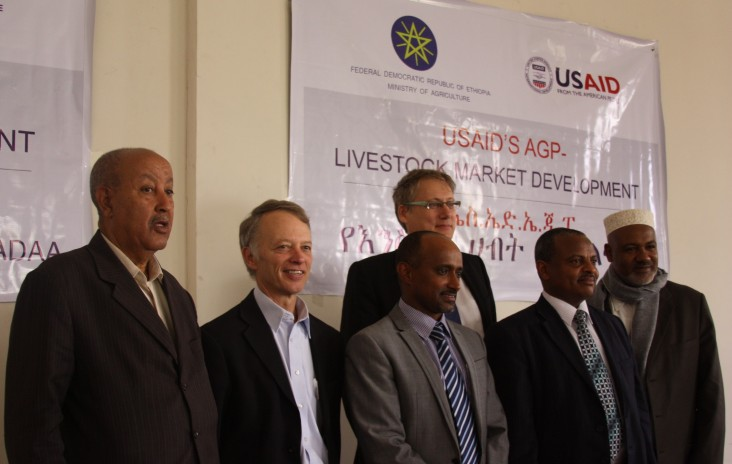 USAID Mission Director Dennis Weller (2nd from left) at the project launch ceremony with Ethiopian officials.