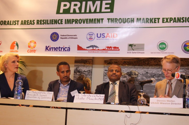 Implementing partner, Government of Ethiopia, and USAID representatives.