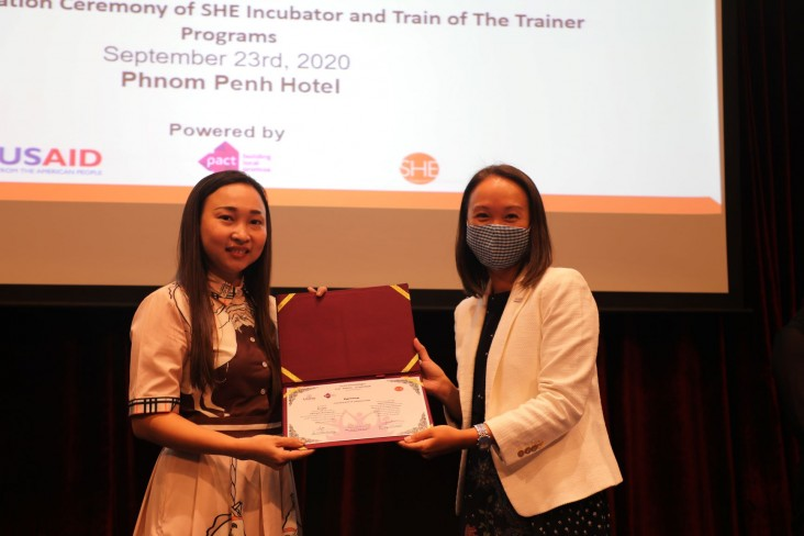 Remarks by Hanh Nguyen, Deputy Mission Director, USAID/Cambodia, Graduation of SHE Incubator and Train of the Trainer Programs