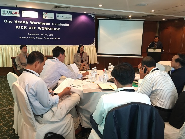 "Remarks by Christina Lau, Deputy Director, Office of Public Health and Education, USAID/Cambodia, Opening Ceremony of the Kick-Off Workshop for ""One Health Workforce"""