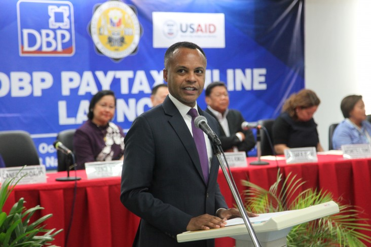 Lawrence Hardy II, Mission Director, Formal Launch of the BIR-DBP Pay Tax Online Service