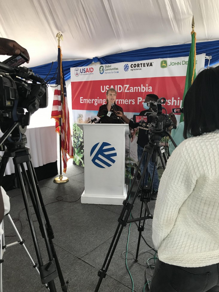 USAID Mission Director delivers remarks at the Emerging Farmers Partnership launch