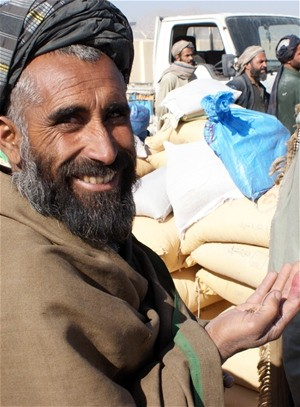 The seed and fertilizer distribution will impact more than 7,000 farmers in Kandahar City's Dand District, an area that is enjoy