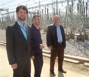 Ghulam Jailani, far right, is the manager of Kabul's Chimtala Substation, the newest and largest in Afghanistan. The substation