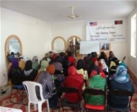 Attendees at the Women's Mentoring Program in Baghlan-e-Jadid, Baghlan Province.