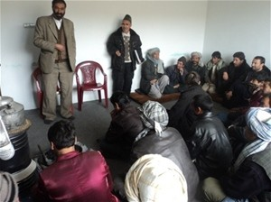 Members of Bamyan Potato Cooperatives attending the capacity building training.