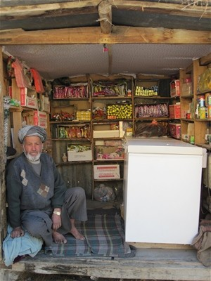 A new shop owner established his business at kilometer marking 16 of the Keshim-Faizabad Road, Badakhshan Province. He benefits