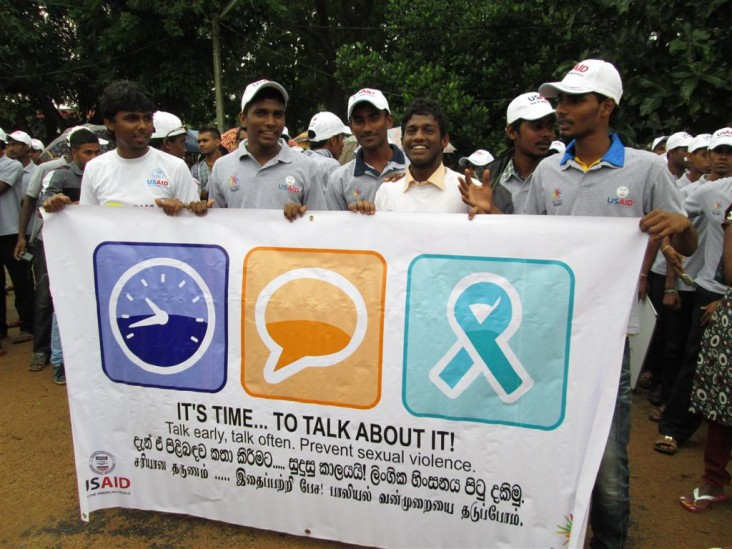 Youth participate in awareness campaign