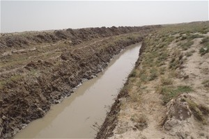 This canal, near the village of Mansoor Ghudai in Kandahar Province, now delivers water to local farms.