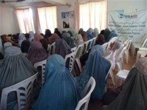 Sixty-five women – primarily from the villages of Arghandab – discussed women's roles in resolving village conflicts in Kandahar