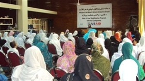 The women's elders' network meeting included presentations and discussions in Behsud and Surkh Rod districts.