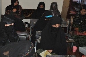 The Afghan Women Association of Kunduz conducting a workshop in Kunduz for teachers and housewives from rural communities.