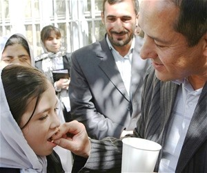 The National De-worming Campaign in Schools was launched on October 20, 2010 at Aisha Durani High School in Kabul.