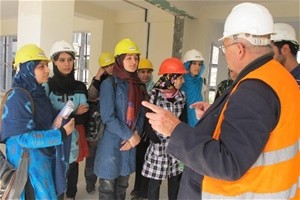 Female undergraduate students at Kabul University learn practical skills through the mentoring program.