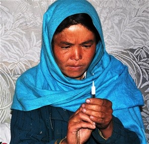 A community health worker in Bamyan Province improves the health of women and children