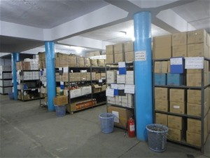 AFTER With USAID support, the Central Medical Stores was refurbished. The renovated, well-lit warehouse is now air-conditioned t