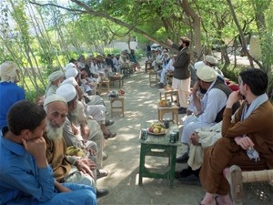 Governors of three volatile districts along Afghanistan's border with Pakistan spoke to communities vulnerable to indoctrination