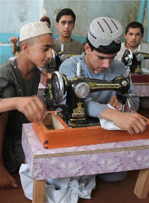 USAID is providing vocational training to boys in a detention facility who are vulnerable to Taliban recruitment