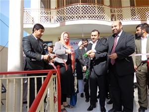 Ribbon-cutting at the Balkh regional sub-office.