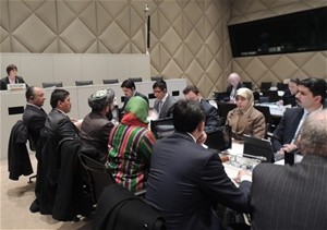 An Afghan delegation headed by Deputy Minister of Commerce and Industries Mozammil Shinwari participated in a the meeting