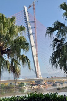 Tran Thi Ly Bridge in Danang.