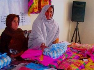 An Afghan Businesswoman selling garments