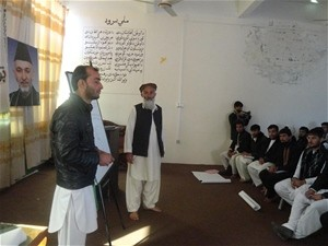 Government officials and elders in Laghman province at the workshop