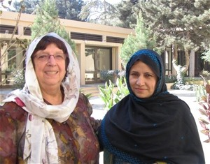 Psychiatrist Dr Kos (left) with Aziza Eshani, one of the counselors she trained to provide support to bereaved families