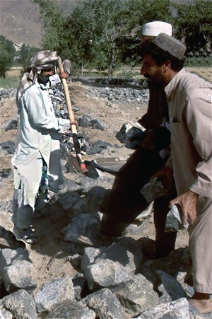 Building the wall that would change prospects for Qala Taj Khan's children