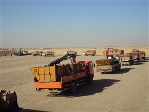Waste is delivered to Kandahar City's new site