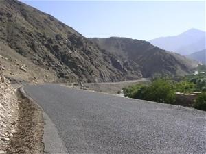 AFTER: The completion of the paved road in Panjshir Valley has reduced travel time from Kabul and provided people a chance to en