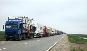 A convoy of 36 trucks loaded with 550 tons of drilling equipment travelled 3,000 km to reach Shibirghan gas fields.