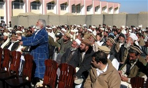 Representatives from Kushi district make their concerns known to the Afghan Government.