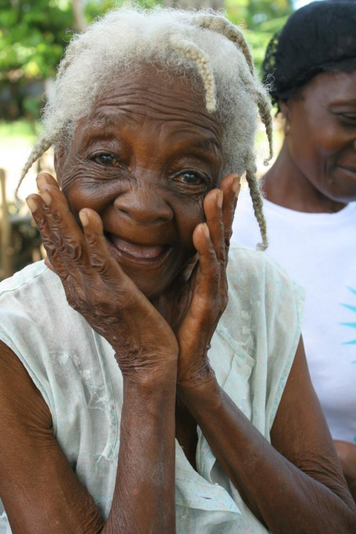 Dieula Rosembert, a grandmother and cacao farmer in Haiti, is participating in USAID agricultural program.