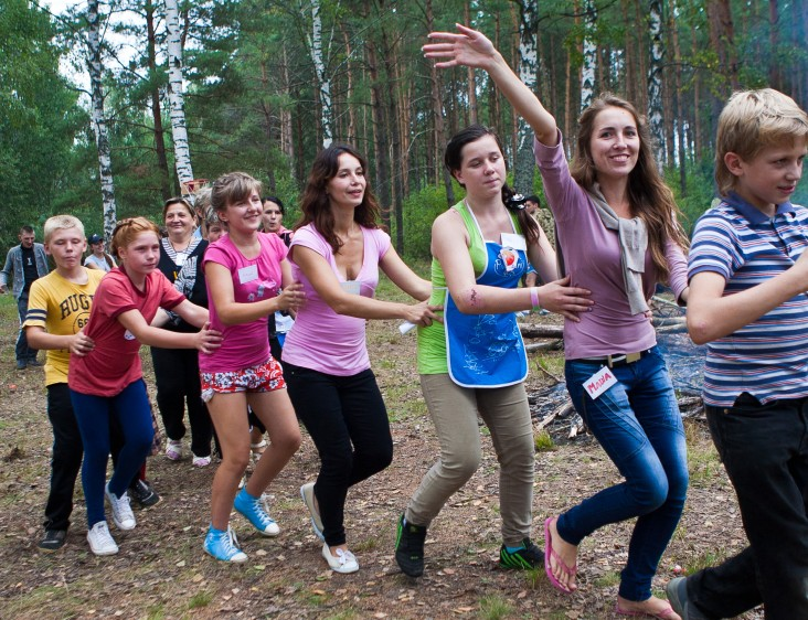 At-risk youth participating in an annual nature event organized by Yana Dashkevich and her colleagues.