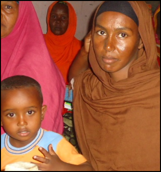 A Somali woman with her son