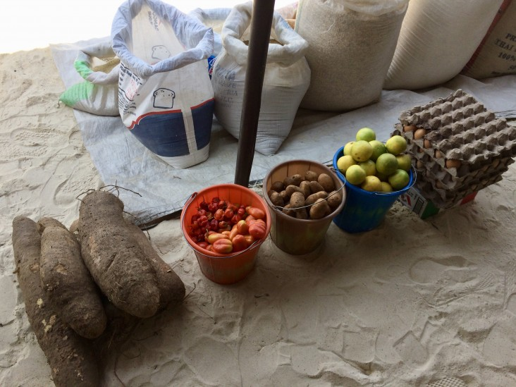 Food products available at a vendor's shop in northeast Nigeria