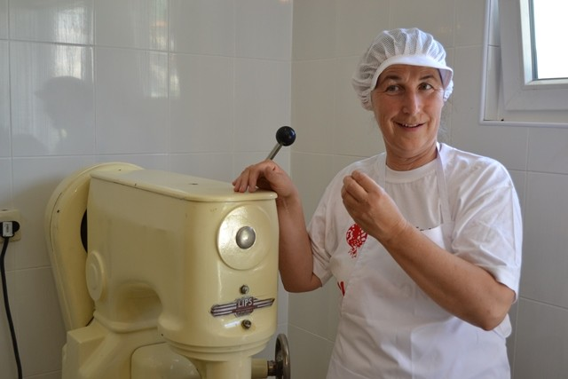 Mrs. Rabije Sinani, owner of the bakery