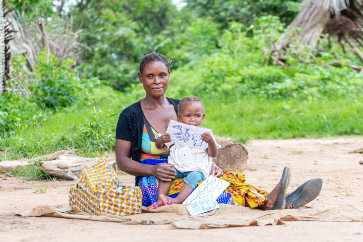 From Mkopeka, a small village in Zambia's Eastern Province, Nzovwa Sakala is pictured here with Eunice, the youngest of six children.