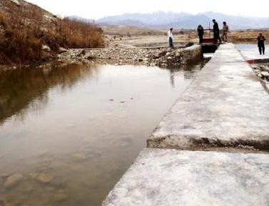 USAID worked with 2,086 villagers to reconstruct more than 20 kilometers of canals and protection walls, channeling water