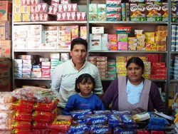 Bermudes Ramos and his family were able to rebuild their stall after a devastating fire in Santa Cruz's Los Pocitos market