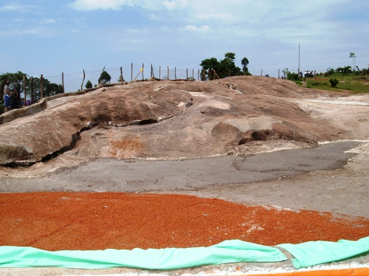 Kapsasian Rock Catchment gathers natural rain water into a 50,000 liter cement tank for the local community.
