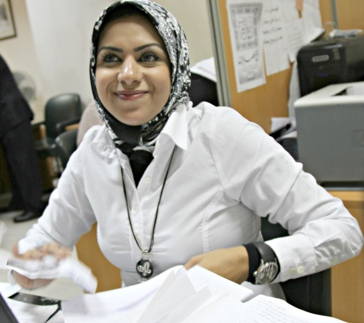 A customer service representative at work in a Customer Service Center in Alexandria