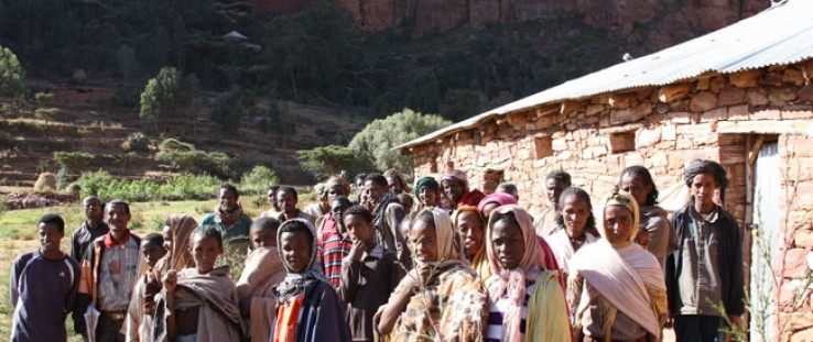 In 2009, the isolated Tabia Debre Abay community built this Alternative Basic Education Center in Tigray, Ethiopia, with USAID s